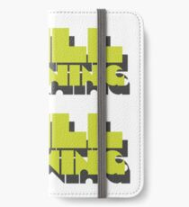 still learning still growing - banksy quote iPhone Wallet/Case/Skin