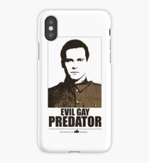 Evil gay predator iPhone Case/Skin