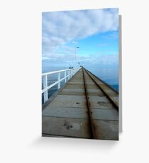 About 1km - Busso jetty Greeting Card