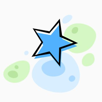 Offset star, blue and green - sticker de Mhea