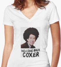 Welcome Back Cox Women's Fitted V-Neck T-Shirt