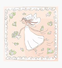 Happy Bride Photographic Print