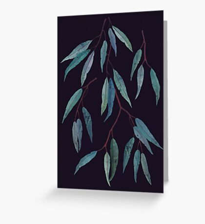 Eucalyptus leaves Greeting Card