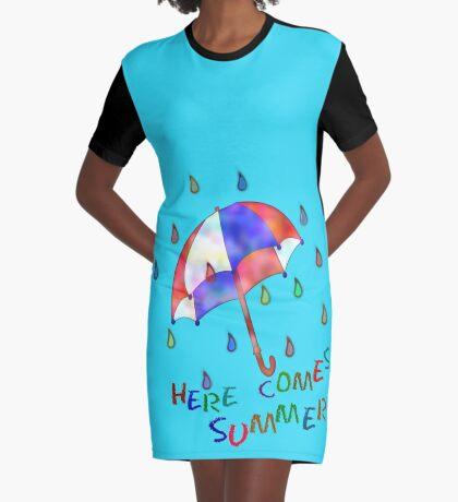 Jolly Brolly Summertime Graphic T-Shirt Dress