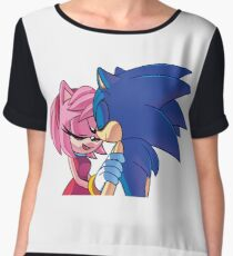 Sonamy - Sonic The Hedgehog Women's Chiffon Top