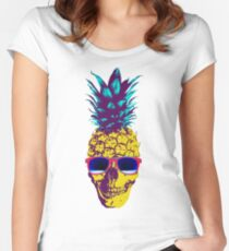 Pineapple Skull Women's Fitted Scoop T-Shirt