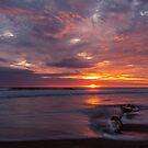 Sunset at Playas, Ecuador by Paul Wolf