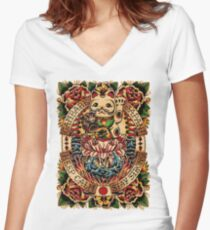 Gambare Japan Women's Fitted V-Neck T-Shirt