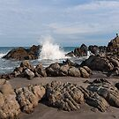 Crashing Waves at El Faro, Ecuador by Paul Wolf