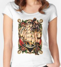 Sexy Pirate Girl Women's Fitted Scoop T-Shirt
