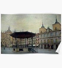 Plaza Mayor de Segovia Poster