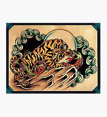 Tiger x Snake (Battle Royale) Photographic Print