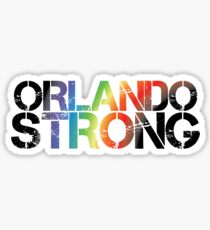Orlando Strong - Black Rainbow Sticker