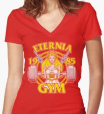 She-Ra Gym Fitted V-Neck T-Shirt