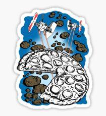 Sci Fi and Pizza Sticker