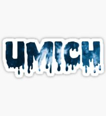 Blue and White Tie Dye UMICH Sticker