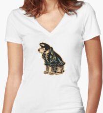 Pitbull MR Women's Fitted V-Neck T-Shirt
