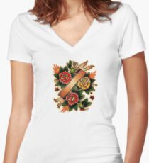 Spitshading 063 Women's Fitted V-Neck T-Shirt