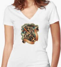 Spitshading 065 Women's Fitted V-Neck T-Shirt