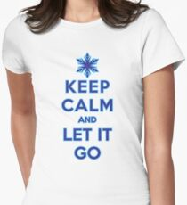 Keep Calm and Let It Go (light background) Women's Fitted T-Shirt