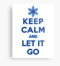 Keep Calm and Let It Go (light background) Metal Print