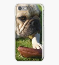 French bulldog with a ball iPhone Case/Skin