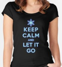Keep Calm and Let It Go (dark background) Women's Fitted Scoop T-Shirt