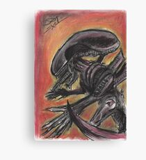 """""""Tribute to HR Giger""""  Canvas Print"""