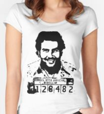 Pablo Escobar Mugshot Women's Fitted Scoop T-Shirt