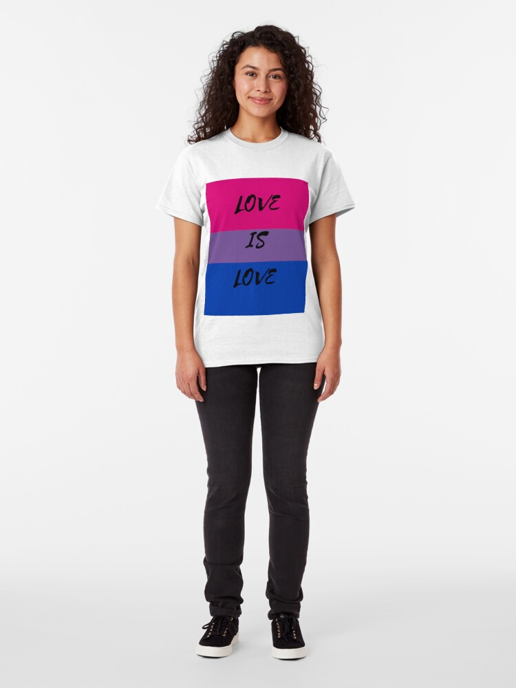 Alternate view of LOVE IS LOVE - bisexual flag Classic T-Shirt