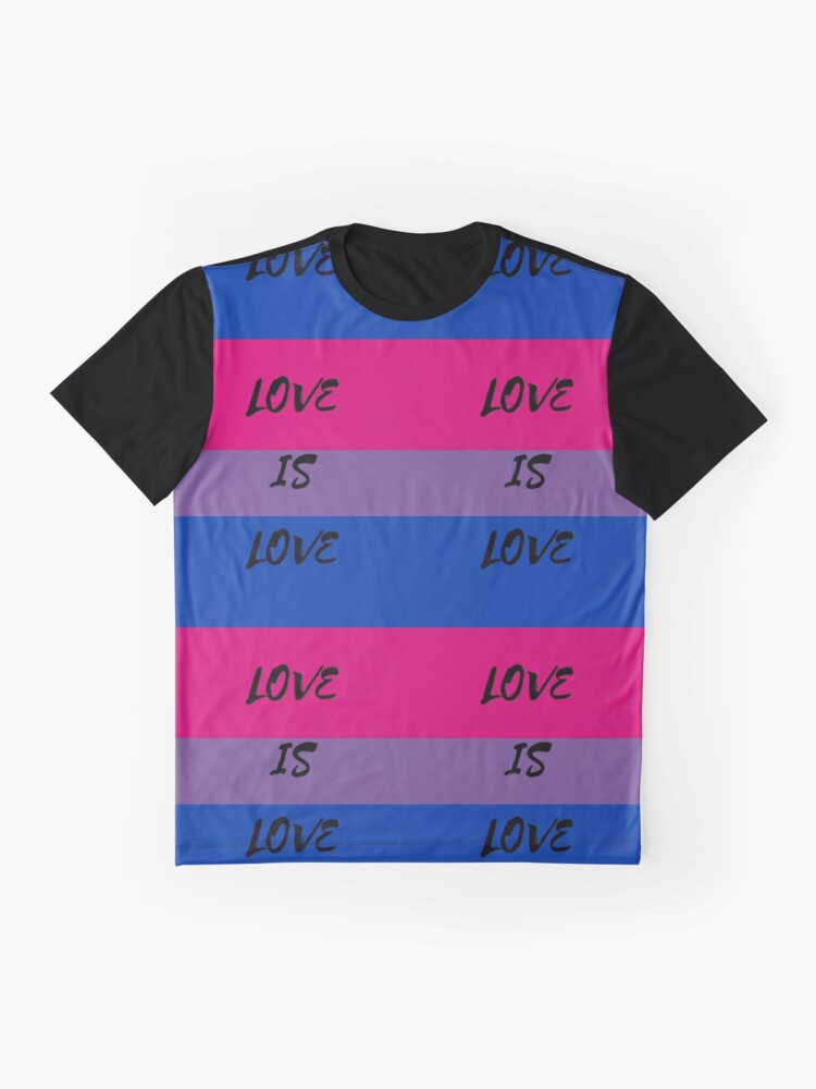 Alternate view of LOVE IS LOVE - bisexual flag Graphic T-Shirt