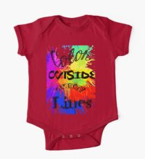 Color Outside the Line One Piece - Short Sleeve