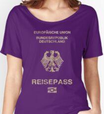 Deutscher Pass Vintage Loose Fit T-Shirt