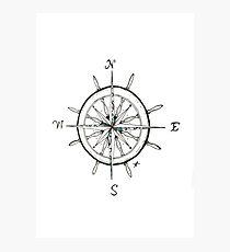 Captain's Compass Photographic Print