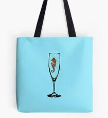 Crayon Seahorse Pillow Tote Bag