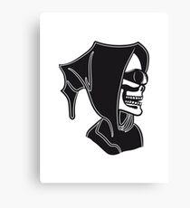 Death hooded sunglasses skull Canvas Print