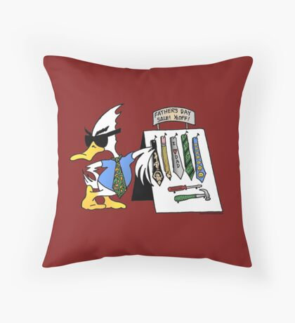 Father's Day Duck Throw Pillow