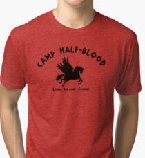 Camp Half Blood: Full camp logo Tri-blend T-Shirt