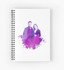"Watercolor Linstead/Bushfer ""Chicago PD"" Spiral Notebook"