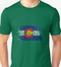 Colorado Flag Splatter w/ Cannabis Leaf T-Shirt