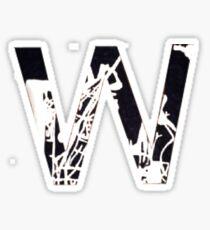 W Sticker