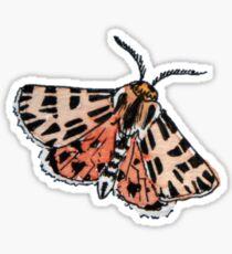 Red Moth Sticker