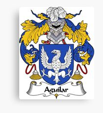 Aguilar Coat of Arms/Family Crest Canvas Print