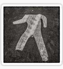 man crossing Sticker