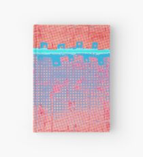 Quilt cover, half tone dots repeat Hardcover Journal