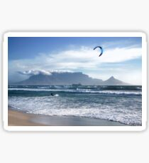Kite Surfing in Cape Town, South Africa Sticker