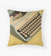 Vintage TAB-O-MATIC Antique Typewriter 1970's Throw Pillow