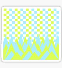 Fancy in yellow and blue Sticker