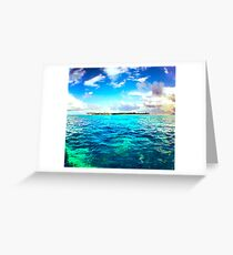 Blue and Green, Tobago Cays, SVG Greeting Card