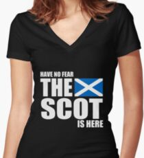 Scottish - Have No Fear The Scot Is Here Women's Fitted V-Neck T-Shirt